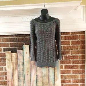 American Eagle Cable Knit Sheer Sweater